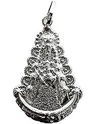 Colgante plata Ley 925m Virgen del Rocio Silueta grande [1338]