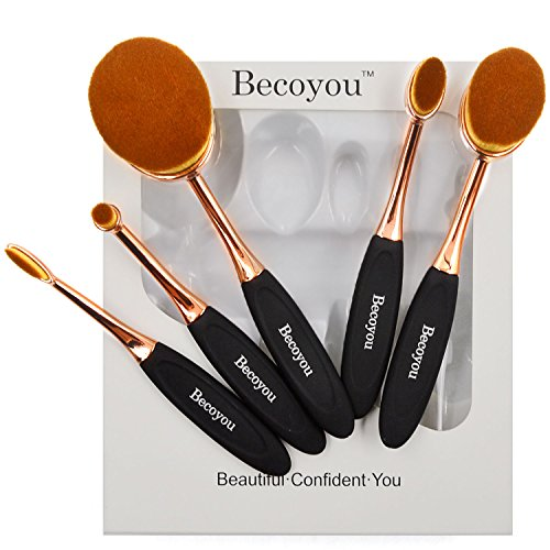 Becoyou Make Up Pennelli Trucco Ovale, Viso