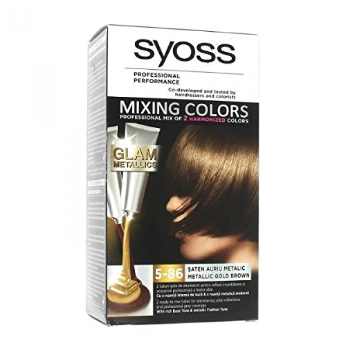 syoss coloration mixing colors 5 86 metallic gold brown - Syoss Coloration Prix