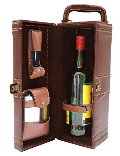 Designer PU Pelle di viaggio dell' Istituzione Top Impugnatura Box Set Regalo Marrone, marrone, 36 x 14 x 12 Cm