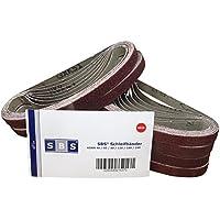 Lot de 48 bandes abrasives SBS - 13 x 457 mm - Assortiment de 8 pièces par granulation: 40/60/80/120/180/240