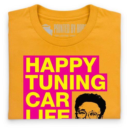 Happy Tuning T-Shirt, Herren Gelb