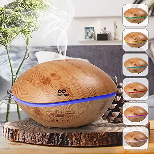 Aroma Diffuser, luftbefeuchter infinitoo 500ML Wal Design Diffuser | Raumbefeuchter Ultraschall mit 7 LED Farbwechsel für Wohnzimmer, Kinderzimmer, SPA, Büro (WAL-Design)