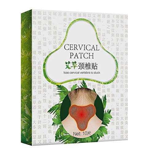 Mimiga Hals Gips Aufkleber Schmerzlindern Paster Hals Aufkleber Gesundheitswesen Wellnesprodukt für Massage Entspannung Dünne Wärmepflaster