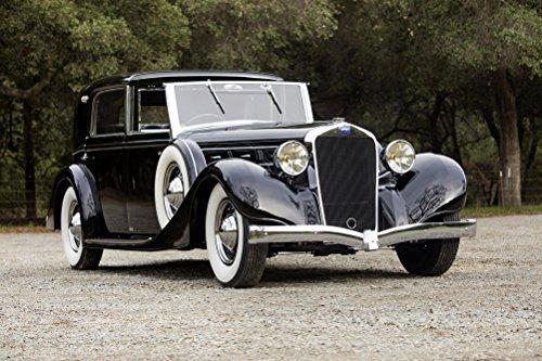 delage-d8-100-coupe-chauffeur-par-franay-1936-car-print-on-10-mil-archival-satin-paper-18x24