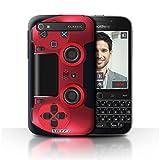 Stuff4 Hülle / Case für Blackberry Classic/Q20 / Rot Muster / Playstation PS4 Kollektion