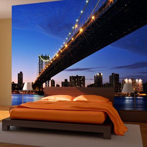 MURANDO® FOTOMURAL 350X270 CM ! PAPEL TEJIDO-NO TEJIDO  FOTOMURALES - PAPEL PINTADO 350X270 CM ! NEW YORK ! 100404-124