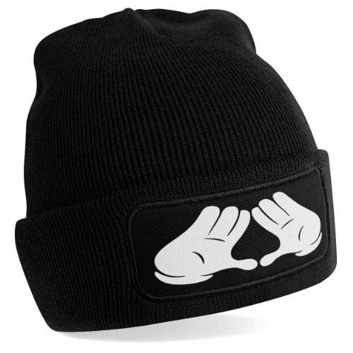 Stylotex Beanie Mütze Illuminati Hands, Farbe:schwarz