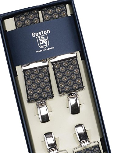 bello e affascinante prezzo scontato grande varietà ALBERT THURSTON Bretelle Clips Fantasia cravatta Blu MOD ...