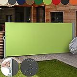 Jago Seitenmarkise Farbauswahl/Großauswahl (160x300cm, 180x300cm, 200x300cm), für Balkon Terrasse Garten Sonnenschutz Sichtschutz Windschutz
