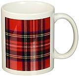 3dRose mug_56169_1 Red and Green Plaid Ceramic Mug, 11-Ounce