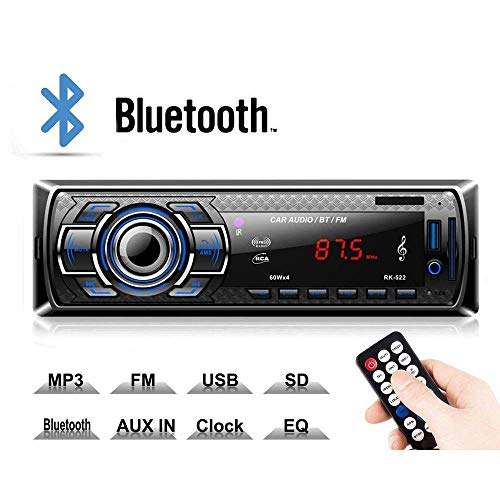 Kdely Autoradio mit Bluetooth Freisprecheinrichtung, RDS/FM/AM Radio Tuner 1 Din, USB/MP3/WMA/WAV/TF-Media Player + Fernbedienung, Single Din Universal Autoradio -