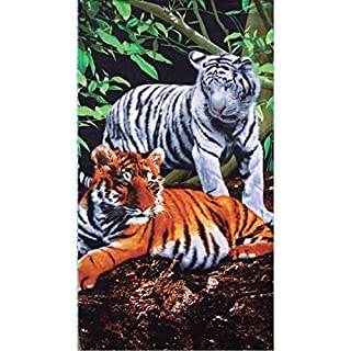 Alpes Blanc Tigers Beach Towel