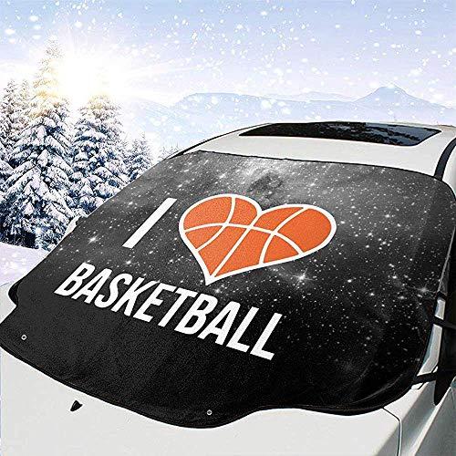 Tridge Auto Windschutzscheibe Schneedecke I Heart Basketball-1 Frost Guard Protector