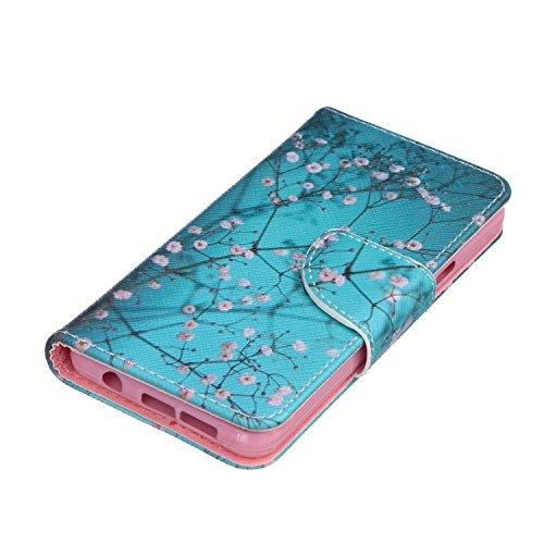 AYASHO® Samsung Galaxy S7 Edge Folio PU Wallet Case Schutzhülle ,Soft Backcover Handy Tasche Flip Cover Buchstil mit Standfunktion Karteneinschub und Magnetverschluß Etui Flip Case für Samsung Galaxy  X7