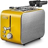 De Longhi ctx2203bk Icona tostador Potencia 550W Color Amarillo Mostaza