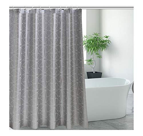 AieniD Badewannenvorhang Anti-Schimmel Einfach Grau Wasserdichter Duschvorhang Size:80X180CM