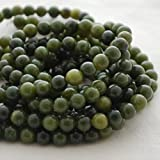 Alta qualità di grado A naturale giada nefrite pietra preziosa rotonda perle di 4, 6, 8, 10mm Dimensioni, 10mm (39-42 beads)