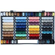 Surtido de 64 hilos de colores (100% poliéster, aptos para máquina de coser)