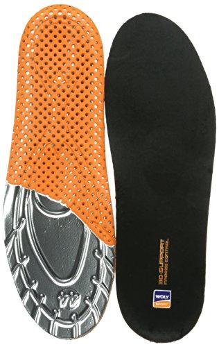 Woly Warm Active 3D - Plantillas, color Schwarz/Orange/Silber 0, talla 42