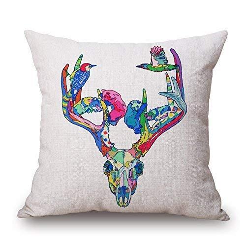 Trsdshorts Africa Wildness Series Cartoon Zebra Animal Design Cotton Linen Decorative Throw Pillow Case Cushion Cover 18