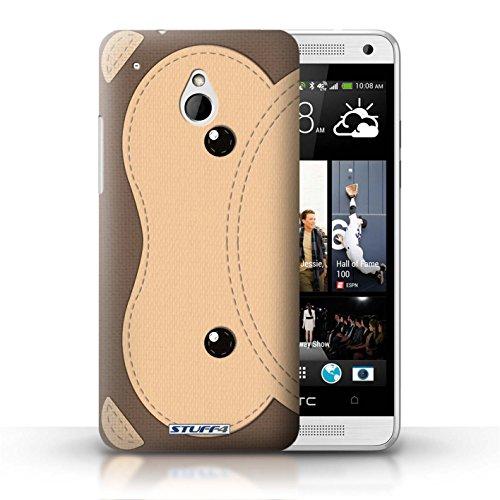 Kobalt® Imprimé Etui / Coque pour HTC One/1 Mini / Cochon conception / Série Cousu des Animaux Effet Singe