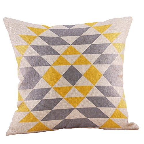 Yvelands Senf Kissenbezug gelb geometrische Herbst Kissenbezug -