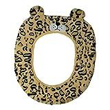 Gifts Treat Housse de siège de toilette Accessoires de toilette de style animal mignon doux tapis de bain en peluche (léopard)