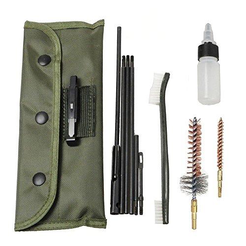 welinks 100/Set Gun Reinigung Kit Pistole Reinigung Kit Gewehr Shotgun Reinigung Kit Sets Tactical Rifle Gun von Pinsel-Set Universal Butt Lager Cleaning Kit Supplies für alle M16und AR15Varianten