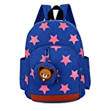 Ankoee Sac A Dos Enfant Fille Maternelle Bambin Cher Cartable Maternelle Garderie 24 x 11 x 32cm(1-7ans) (Bleu)