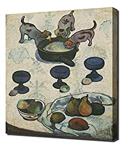 Paul Gaugin - Still Life With Three Puppies - High Quality Reproduction Canvas Art Print