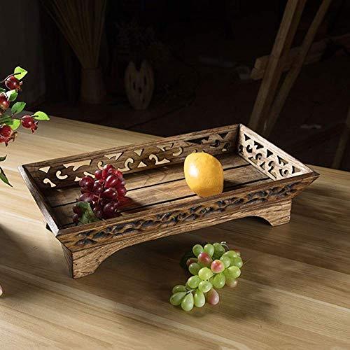AOEHTRAY Hölzerner Getrockneter Frucht-Kasten-Wohnzimmer-Snack-Behälter-Speicher-Süßigkeit/Pistazie/Erdnuss- / Frucht-dekorativer Korb (größe : M) -