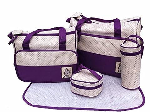 Just4baby Kit sac à langer 5 pièces Violet