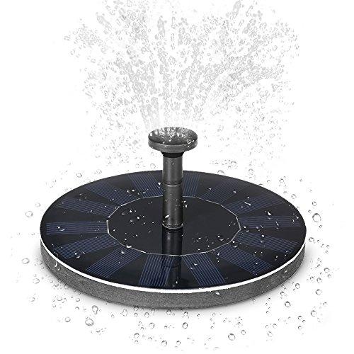 Decdeal Solar Teichpumpe mit Monokristalline Solar-Panel für Gartenteich oder Springbrunnen