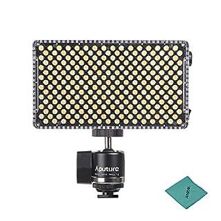 Aputure AL-F7 Portable LED Videoleuchte Lampe Panel 3200K-9500K Dimmbar CRI95 + 256pcs LED Lampen Panel mit Cold Shoe Mount Tragetasche