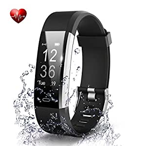 Omnix: Id115 Plus HR Smart Wristband Heart Rate Monitor With 0.96 Inch OLED Display Bluetooth 4.0/ Life Waterproof / Android 4. 4 (Black)