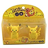 #9: Manbhari Cartoon Figure Non-Toxic Pikachu Shaped Large Erasers  (Set of 2, Yellow) Pack Of 2