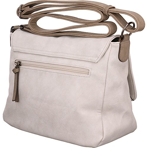 Tamaris - Luna Crossbody Bag M, Borse a tracolla Donna Bianco (Off White Comb)