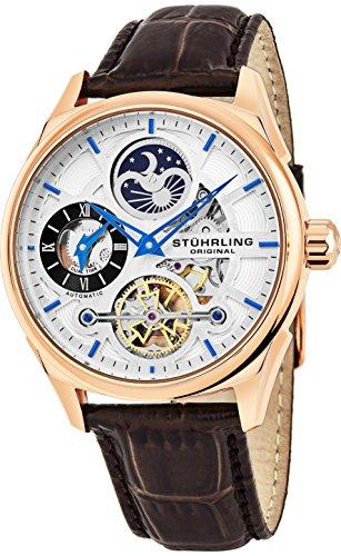 Stuhrling Original Herren Uhr Analog Automatik mit Leder Armband 657Z.04