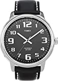 Timex Men's T28071 Quartz Easy Reader Watch with Black Dial Analogue Display and Black Leather Strap