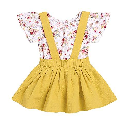 Mädchen Sommerkleider Kinderbekleidung Party Kleid Babykleidung Prinzessin Kleid Junge Mädchen Kleinkind Sommer Blumendruck Kleid Strampler Overall Kleid Tutu Kleider Outfits Set (Sexy Pfau Outfit)