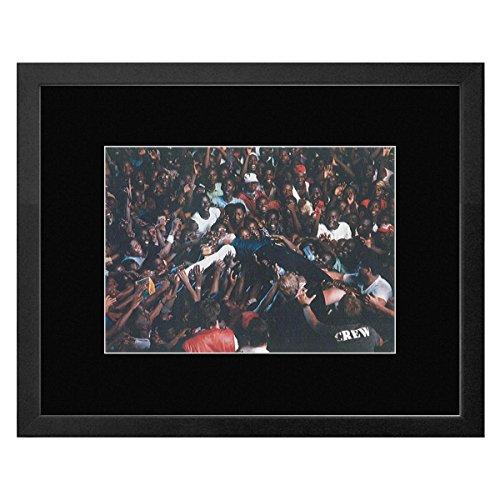 Peter Gabriel–in Abidjan 1988gerahmtes Mini Poster–23,5x 28,5cm