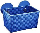 WENKO 20380100 Static-Loc Aufbewahrungskorb Fermo Blue - Badkorb, Befestigen ohne bohren, Kunststoff - Polypropylen, 20.5 x 14.5 x 14 cm, Blau