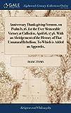 Die besten Thanksgiving-Evers - Anniversary Thanksgiving Sermon, on Psalm IX.16. for the Bewertungen