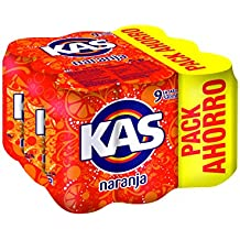 Kas Naranja - Bebida Refrescante, lata 33 cl (Pack de 9)