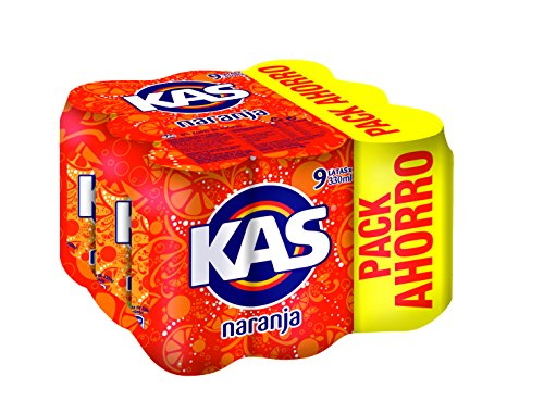 Kas refresco de Zumo de Naranja - Pack de 9 x 33 cl - Total: 2970 ml