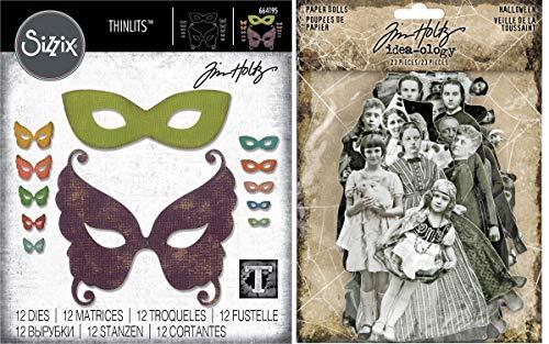 Tim Holtz 2019 - Maskerade Thinlits und Halloween Papierpuppen - 2 Stück