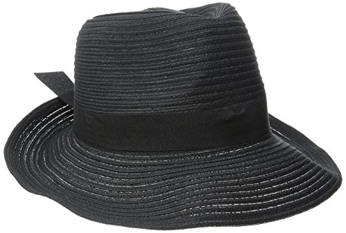 physician-endorsed-womens-avanti-packable-fedora-with-memory-wire-black-one-size