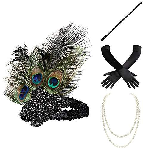 BABEYOND 1920s Flapper Set Damen Gatsby Kostüm