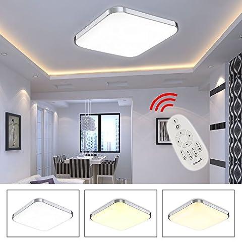 HG® 36W LED Deckenleuchte Dimmbar Fernbedienung Esszimmer Lampe Garderobe Energiespar